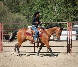 Jack and Mei Mei Ranch Riding