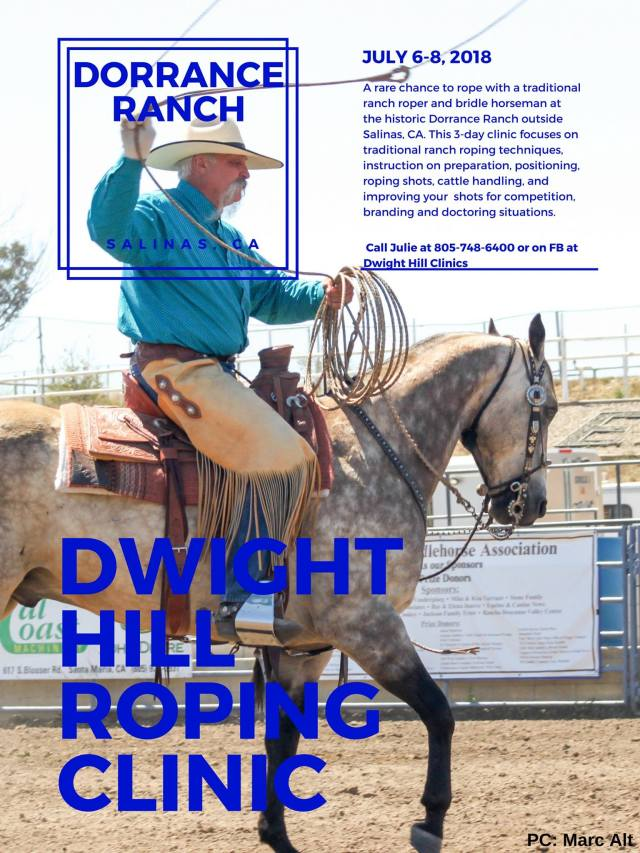 Dwight Hill Roping Clinic